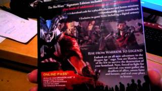 Dragon Age 2 BioWare Signature Edition unboxing video by Limitky.net