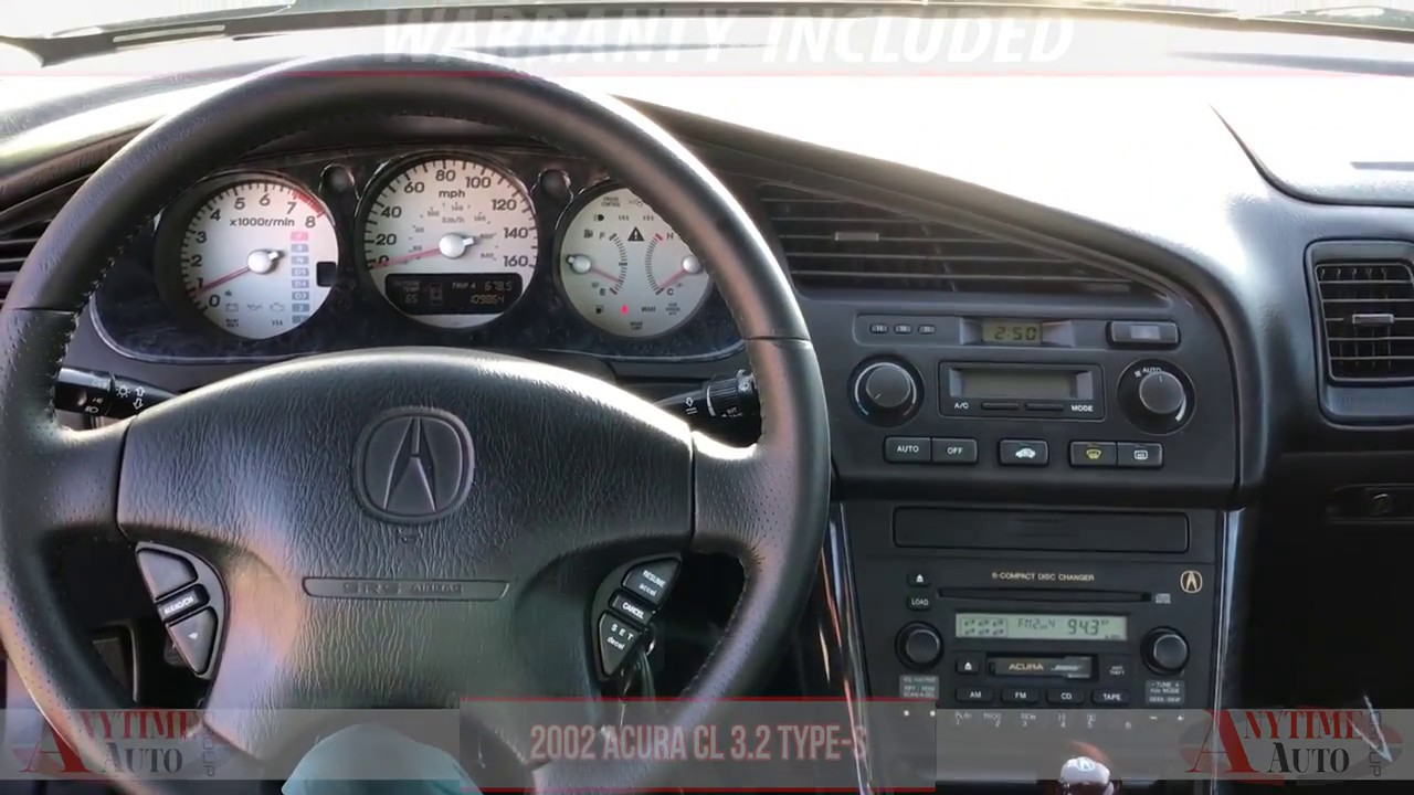 2001 Acura Tl 3 2 >> 2002 Acura Cl 3 2 Type S Black Youtube
