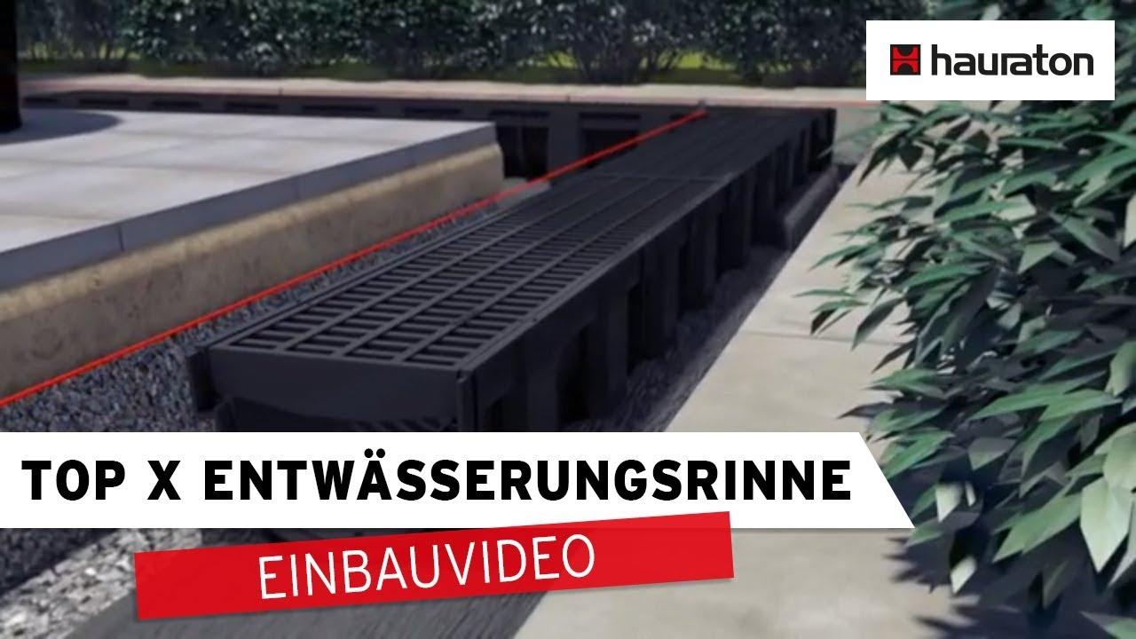 Turbo Einbau Entwässerungsrinne TOP X | Universalkasten mit Anschluss CM68