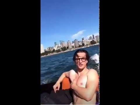 WE ON A BOAT! RICKY, BOB, RICH, AND TOBES! SACHIN'S PERISCOPE