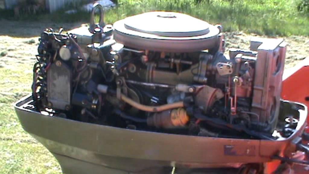 50hp JohnsonEvinrude outboard running  YouTube
