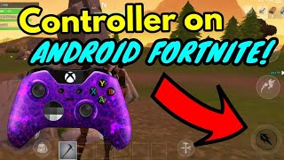 *HOW TO* USE CONTROLLER ON FORTNITE ANDROID! Fortnite battle royale v5.2