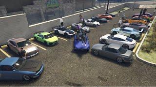 GTA V Sports Cars & Cruise Car Meet | PS4 Stream Gameplay