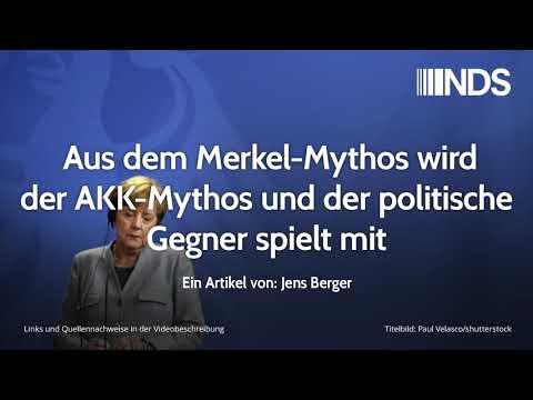 Aus dem Merkel-Mythos wird der AKK-Mythos und der politische Gegner spielt mit | Jens Berger