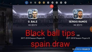How to get black ball in pes18 latest tricks spain draw