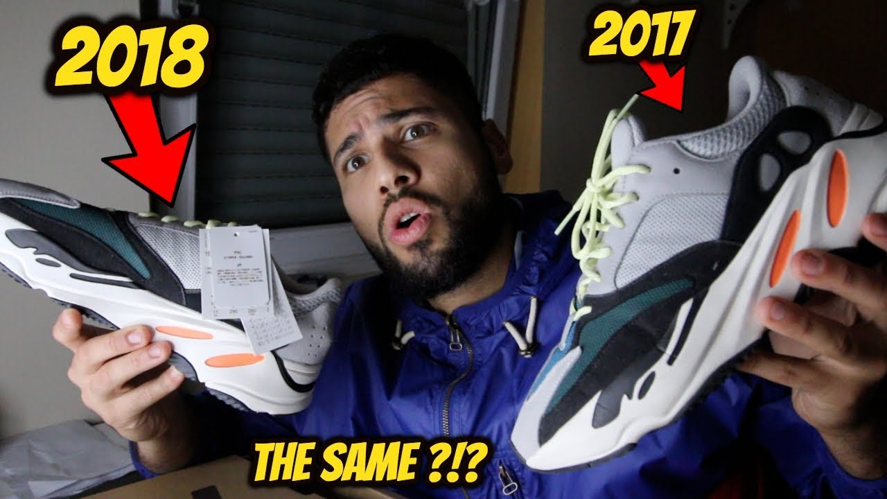 low priced 97ff3 d9aa7 ADIDAS YEEZY BOOST 700 WAVE RUNNER 2017 VS 2018 *ARE THEY THE SAME?*