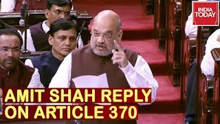 'We Don't Believe In Politics Of Religion': Amit Shah Speech In Rajya Sabha Replying On Article 370