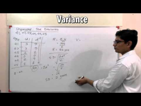 how to work out variance from standard deviation