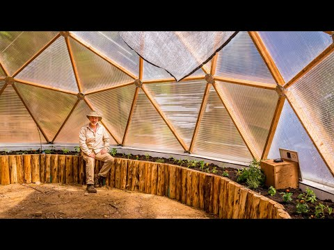 Building Heated Raised Beds in an OFF GRID Greenhouse 🌿 Growing a Food Forest 🌿 Wilderness Garden