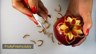 Cover images Apple Flower Style Carving - Fruit & Vegetable Design & Decoration