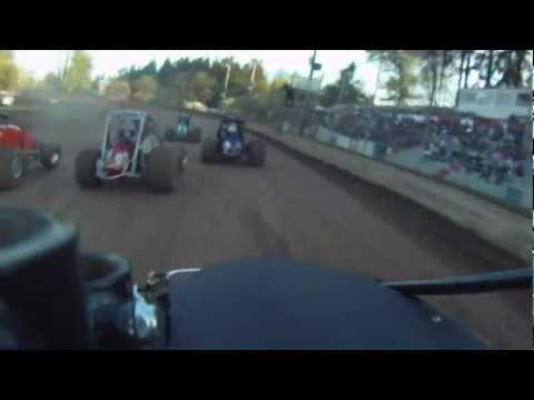 Kyle Miller 4-30-11 Cottage Grove Speedway Wingless Sprint Heat Race