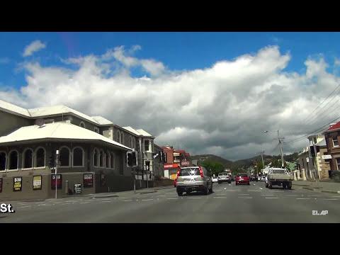 Tasmania, Hobart, driving to Cascade Brewery