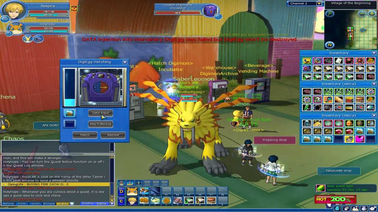 digimon masters online hatching woodmon 5 5 youtube