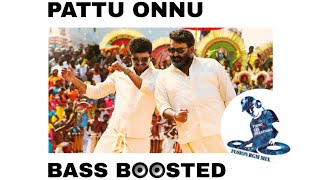 Pattu Onnu Full Song Bass Boosted | Jilla tamil movie