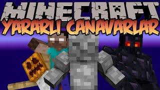 Minecraft : Eğlenceli Mod Tanıtımı : YARARLI CANAVARLAR MODU! (Utility Mobs)