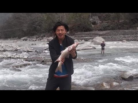 Best Fishing Video -  Fishing In Nepal With Fishing Rod , Fishing Trap In Nepal River