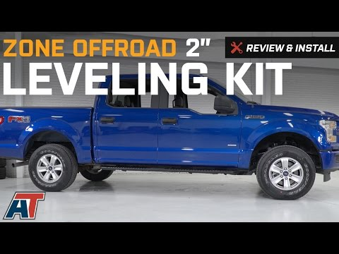 "2009-2017 F150 Zone Offroad 2"" Leveling Kit 2WD/4WD Review & Install"