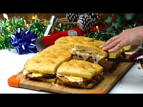 How To Make Christmas Ham & Cheese Focaccia Sandwiches