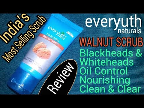 Everyuth Naturals Exfoliating Walnut Scrub Review Hindi | Best For Whiteheads & Blackheads