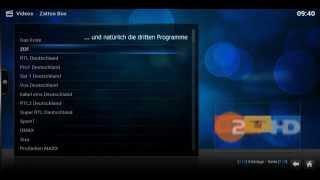 IPTV über Kodi mit dem Zattoo Box AddOn
