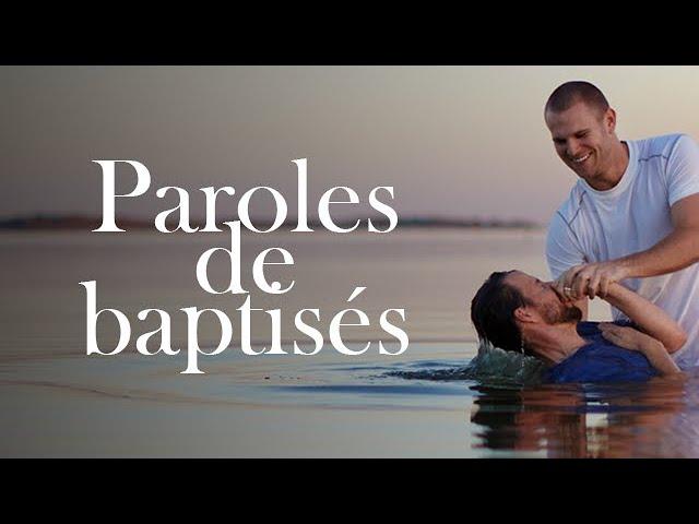 Témoignage des baptisées Mandature 2015 - 2019
