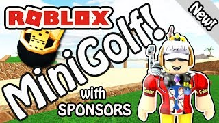 A Hole In ONE!!! - Roblox Mini Golf Group Collab with My Sponsors