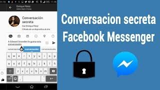 conversación secreta facebook messenger
