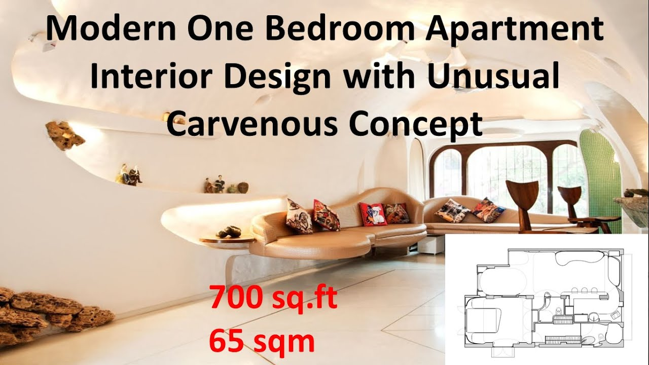 700 Square Feet Apartment 700 sq ft modern one bedroom apartment interior design with