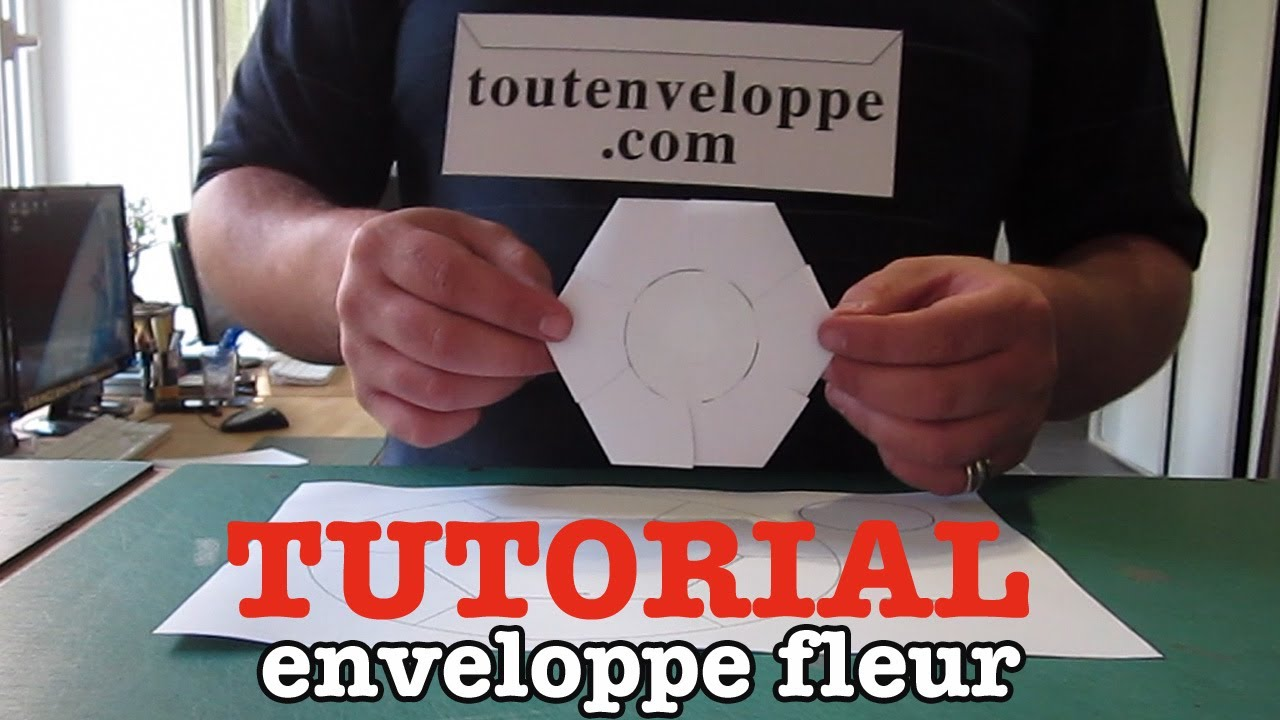comment faire une enveloppe en papier fleur youtube. Black Bedroom Furniture Sets. Home Design Ideas