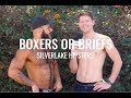 "Silverlake hipsters answer ""Boxers or Briefs"" with DanielXMiller"