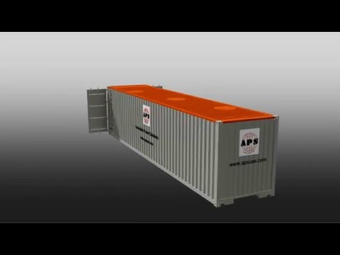 APS 50KL 40ft containerized bunded fuel tank