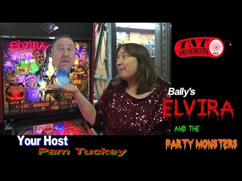 #976 Bally ELVIRA and the PARTY MONSTERS Pinball Machine w/