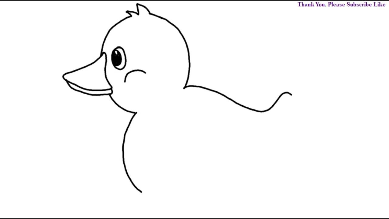 How To Draw A Baby Duck Drawing For Kids Easy Step By Step Learn Todraw