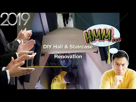 "How to (DIY) Hall and Staircase Renovation 2019 FullHD ""Watch and Learn"""