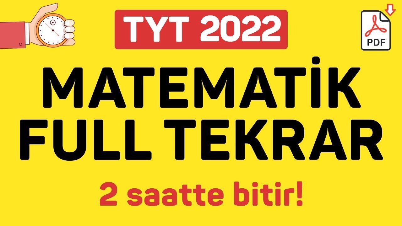 TYT MATEMATİK FULL TEKRAR | 2021 | +PDF | ŞENOL HOCA