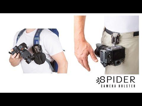 Spider Light Backpacker Kit mit Holster, Kameraplatte und Rucksack-Adapter