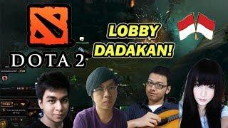 DOTA 2 NGAKAK ABIS! - LOBBY KEJUTAN BARENG FANS!!