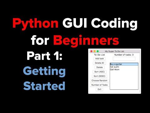 Python Tkinter GUI Tutorial: To Do List 1
