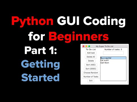 Python Tkinter GUI Tutorial To Do List 1 - YouTube