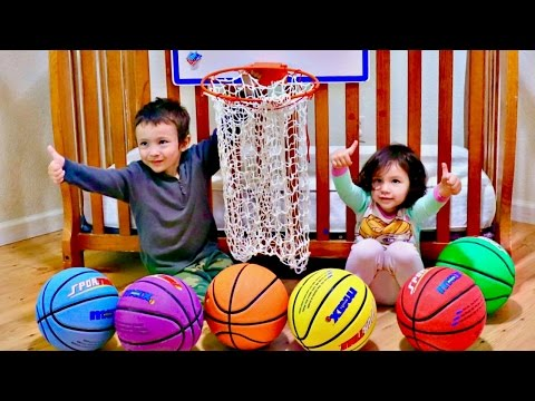 Thumbnail: Learn Colors with Balls for Babies and Preschool Kids | Toddlers Playing Baby and Coloured Balls