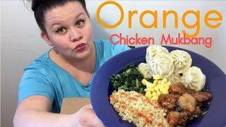 Healthy Orange Chicken Chinese food Mukbang | better than Panda Express