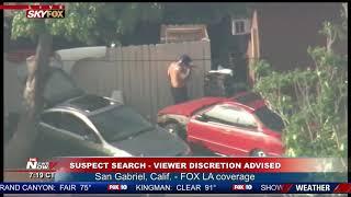 FULL COVERAGE: BIZARRE armed suspect standoff involving fire, fireworks in San Gabriel, CA