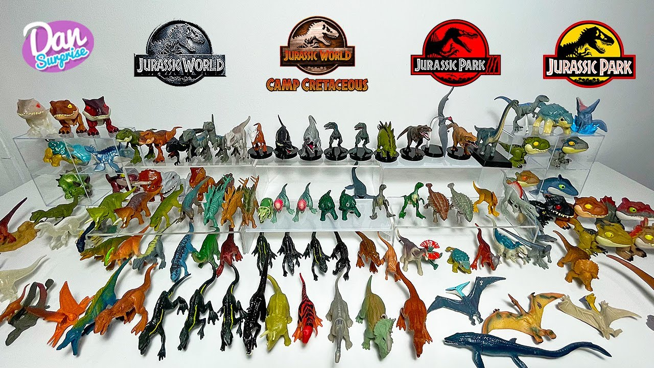 120 MINI DINOSAURS of Jurassic World Camp Cretaceous, Jurassic Park and Lost World!