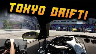 DWG 350z Tearing It Up Toyko Drift Style - Full Wheel Cam - Oculus Rift S Gameplay