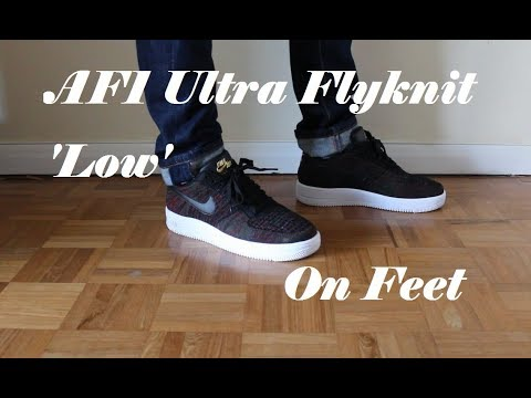 97f6bc58417d Nike Air Force 1 (AF1) Ultra Flyknit Low On Feet - YouTube