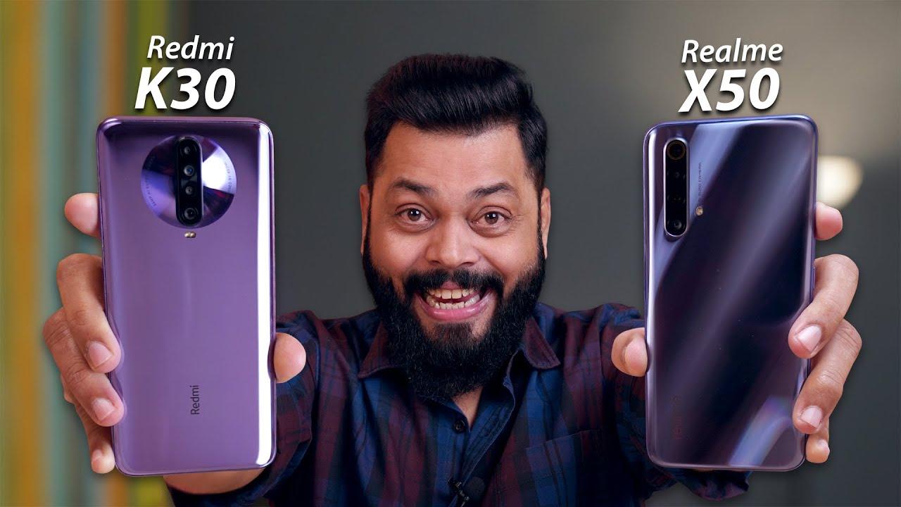Redmi K30 Vs Realme X50 5G Full Comparison ⚡⚡⚡ And The Winner Is...