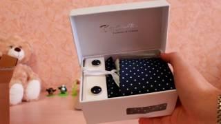 Галстук, запонки, платок, держатель для галстука в наборе с AliExpress! Распаковка + Обзор =)))