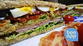 Клаб сэндвич - Сэндвич с беконом
