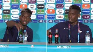 video: Paul Pogba removes Heineken bottle from press conference