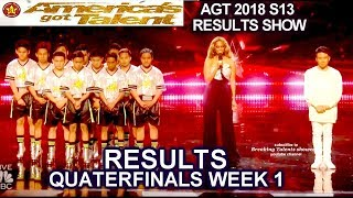 RESULTS QUARTERFINALS 1 Judges Save Junior New System Mochi  America's Got Talent 2018 AGT